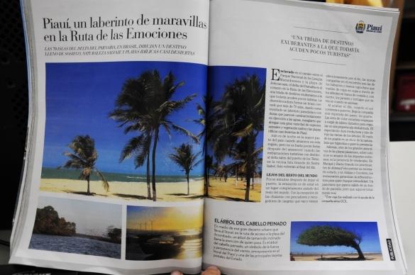 Matéria publicada pela revista El Viajero (Crédito: Francisco leal)