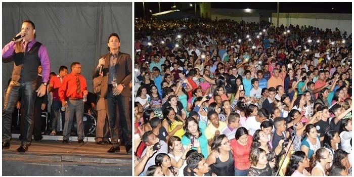 Evento arrasta multidão de evangélicos em comemoração ao Dia da Bíblia em Buriti dos Lopes