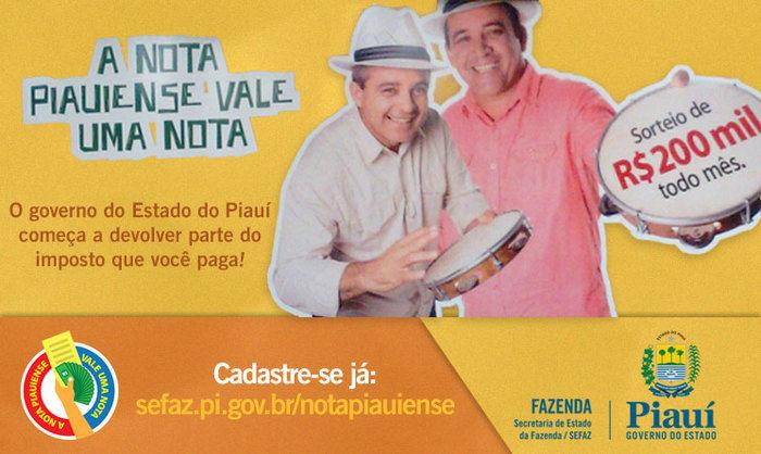Nota Piauiense alcança 100 mil cadastros em apenas 6 meses (Crédito: Divulgação)
