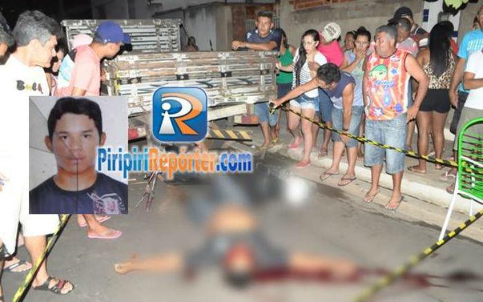 Jociel dos Santos colidiu no veículo parado (Crédito: Piripirireporter)