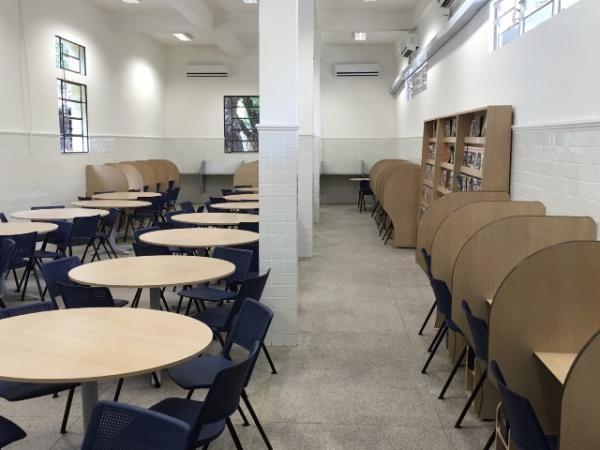 Nova sala de leitura do Liceu Piauiense  (Crédito: Divulgação)
