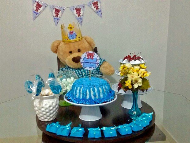 Gregório em seu aniversário (Crédito: Reprodução )