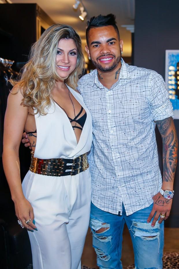Dani Souza e Dentinho (Crédito: Manuela Scarpa/Brazil News)