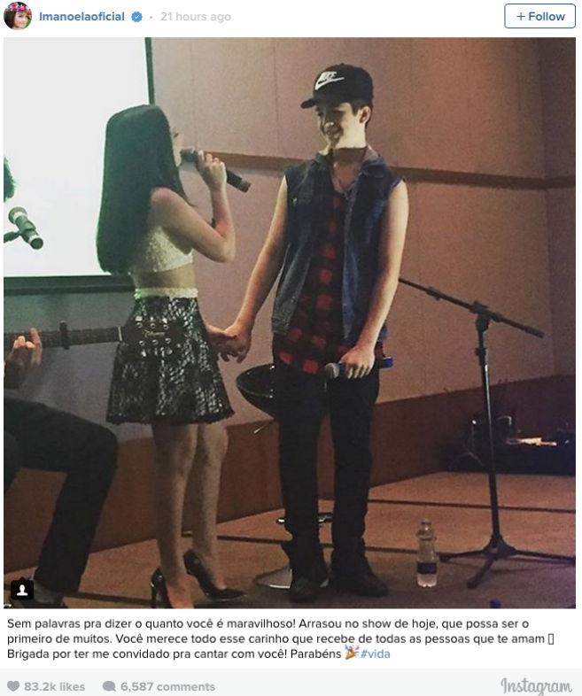 Larissa Manoela se declara para o namorado (Crédito: Reprodução / Instagram)