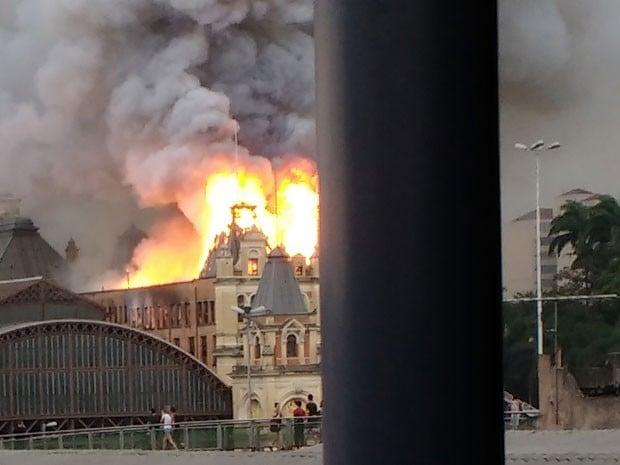 Incêndio Museu (Crédito: Reprodução)