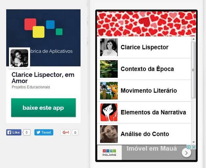 Alunos criam 120 apps baseados em obras literárias brasileiras