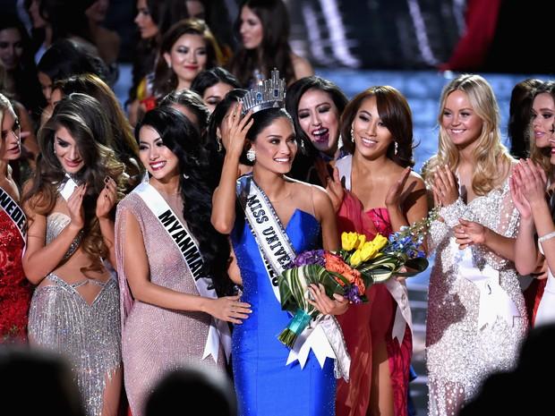 Pia Alonzo Wurtzbach ganha o Miss Universo em Las Vegas, nos Estados Unidos (Crédito: AFP )