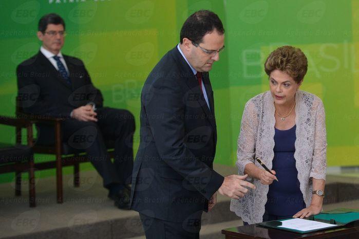 Dilma dá posse a Nelson Barbosa (Crédito: Agência Brasil )