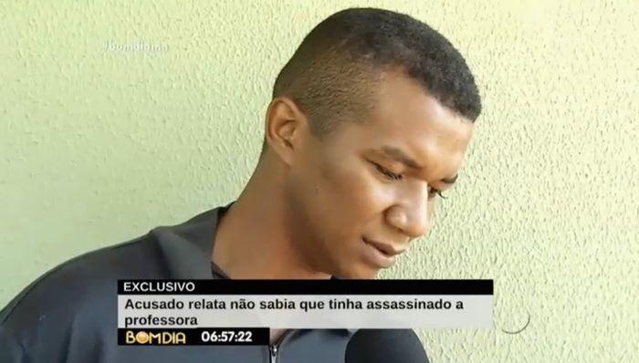 Acusado de matar professora em assalto (Crédito: Reprodução/TV Meio Norte)