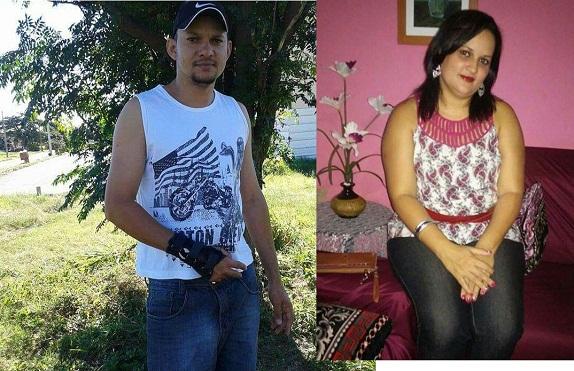 O motorista Jeconias Filho(Junior) e sua Irmã Aline outra vitima do tragico acidente (Crédito: Reprodução)