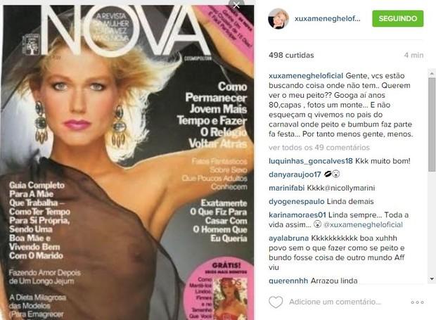 Xuxa nua em capa de revista (Crédito: Divulgação)