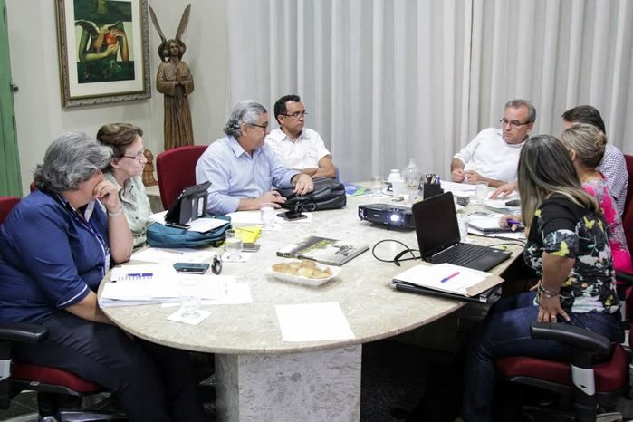 Reunião do prefeito Firmino Filho (Crédito: Reprodução)