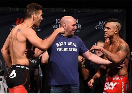 Vitor Belfort x Chris Weidman (23 de maio de 2015) (Crédito: REPRODUÇÃO / UFC)