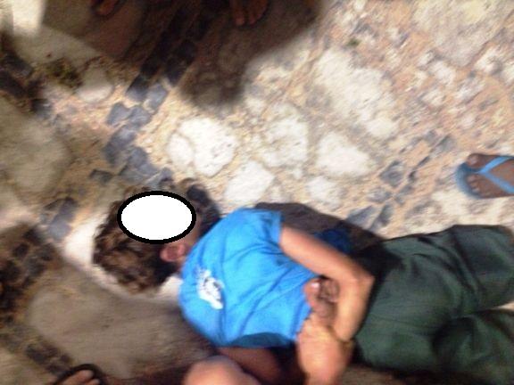 Menor foi detido por populares (Crédito: Reprodução)