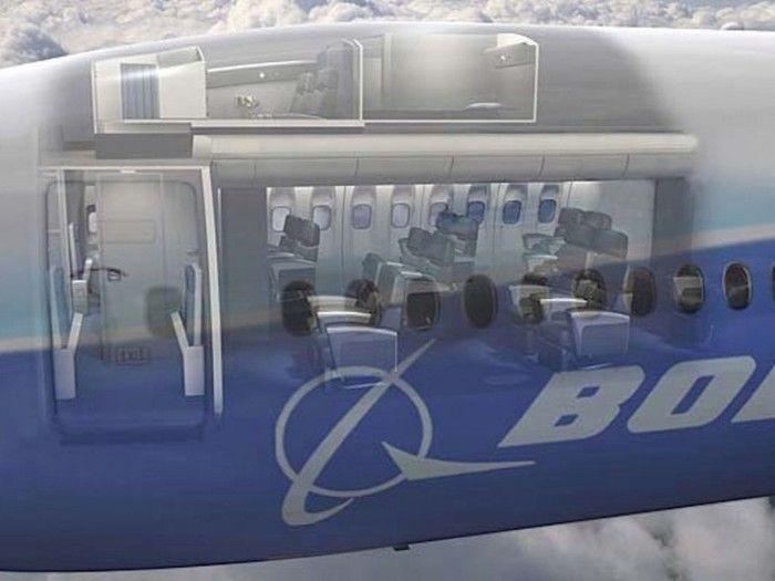 Local onde ficam os quartos das aeromoças (Crédito: Reprodução)