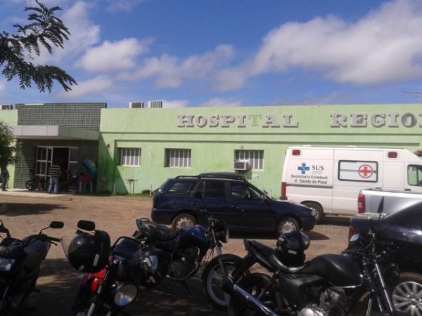 Os dois foram levados para o hospital de Campo Maior (Crédito: Reprodução)
