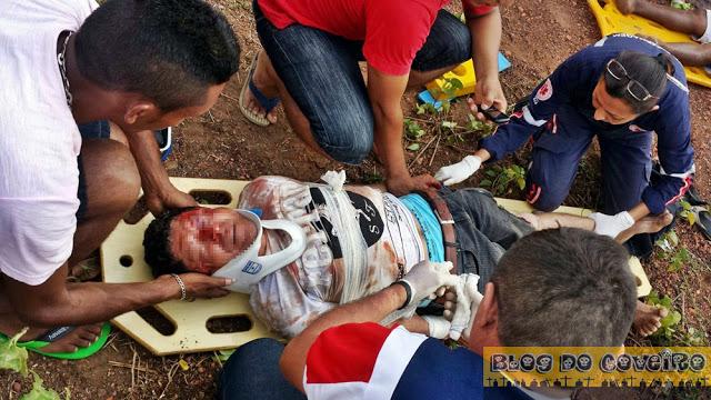 Acidente deixa feridos em Cocal (Crédito: Reprodução)