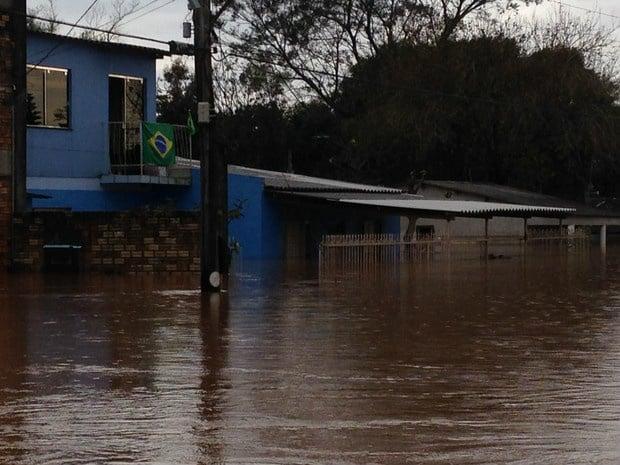 Cheias no Rio Grande do Sul (Crédito: Reprodução)