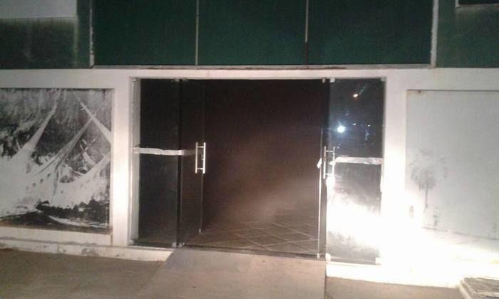 Incêndio do Prédio do 'Espaço Cidadão'em Campo Maior (Crédito: portaldecampomaior)