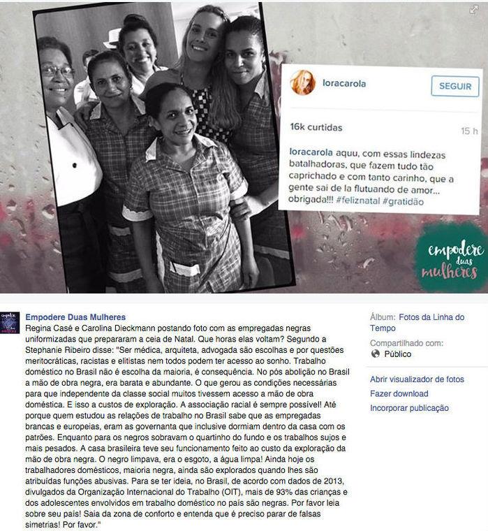 Post Empodere Duas Mulheres (Crédito: Reprodução / facebook)