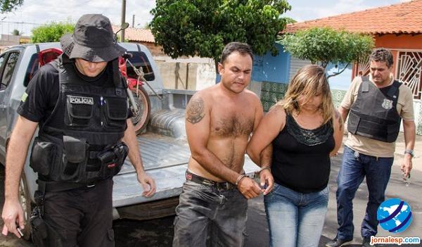 Casal preso acusado de tentativa de homicídio (Crédito: Reprodução)
