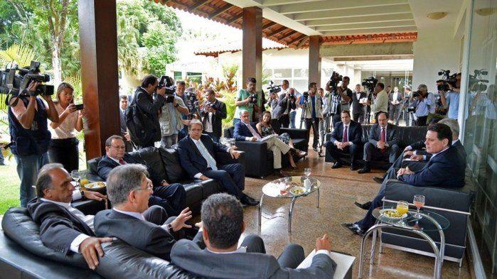 Reunião dos governadores com Ministro da Fazenda (Crédito: Reprodução)