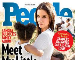 Atriz Sandra Bullock adota garotinha de 3 anos