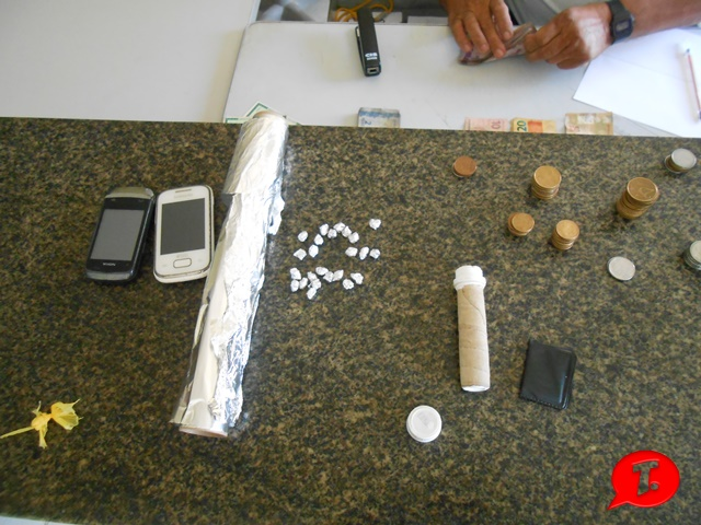 Objetos encontrados pela Polícia