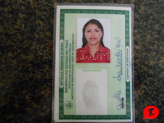 Carteira de Identidade da acusada de tráfico