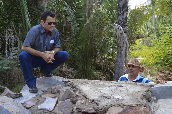 Prefeito Wallem Mousinho visita construção de ponte na Zona Rural de Guadalupe. - Imagem 1