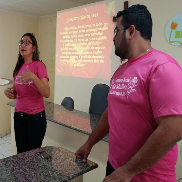 O segundo dia em comemoração à semana da mulher teve palestras na Câmara Municipal