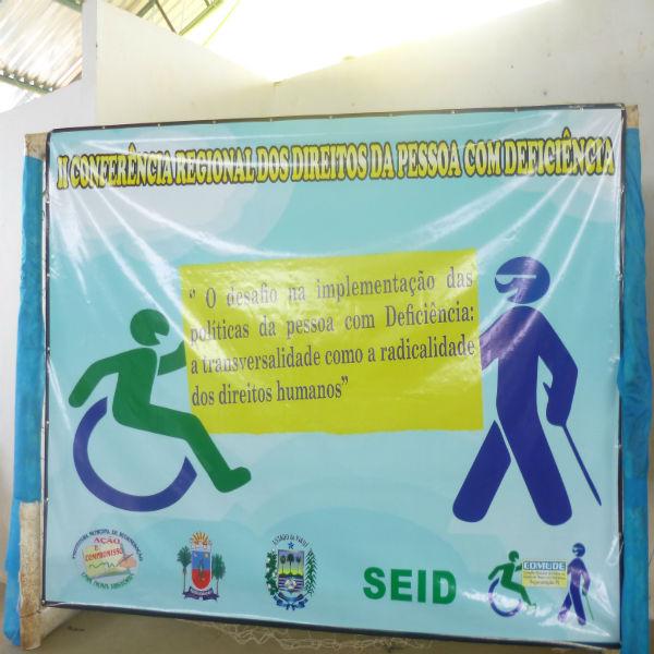 Primeira Dama e Secretária de Saúde do Municipio Jeanne participou do II encontro regional dos diretos de pessoas com deficência