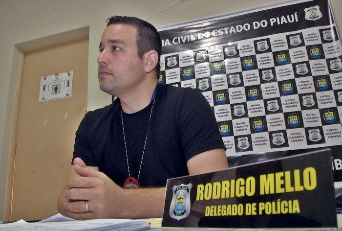 Resultado de imagem para delegado Rodrigo Mello de Parnaiba