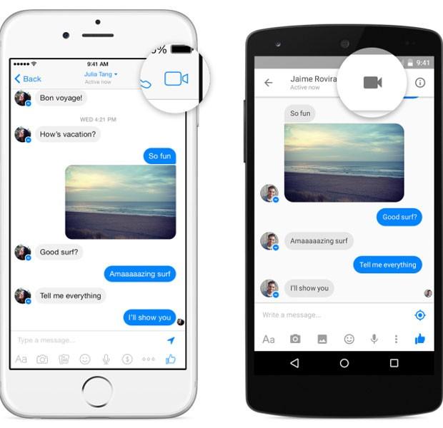 Chamadas de vídeo pelo Messenger