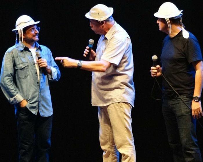 Zé Lezin, João Cláudio Moreno e Amauri Jucá
