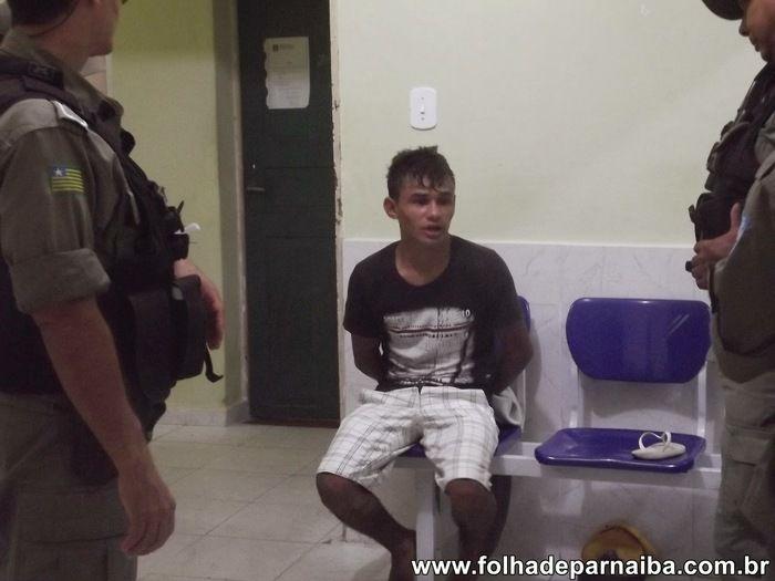 Um dos jovens presos pela PM