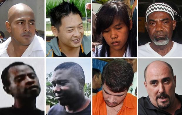 oito estrangeiros condenados à morte por tráfico na Indonésia