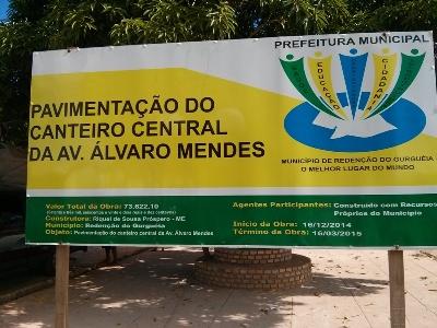Em fase final obras de urbanização no canteiro central da Avenida Álvaro Mendes
