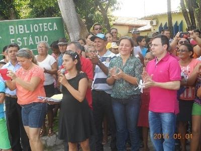 Prefeita Vilma Amorim Participou das Atividades do 1º de Maio em Esperantina