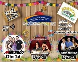 """Prefeitura de Cajueiro realiza o XIV festival de quadrilhas """"Cajueiro Meu Rei"""" 24 e 25 de Julho"""