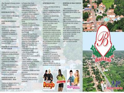 Participe do aniversário da cidade de Brasileira