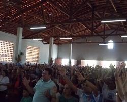 Fiéis lotam Igreja na Missa de Encerramento dos Festejos Santa Ana e São Joaquim 2015.