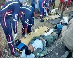 Acidente Grave na BR 343 deixa 05 PM´s e 01 Professor feridos