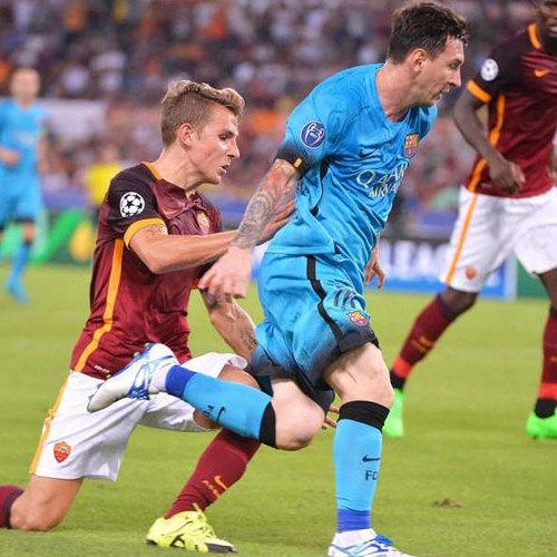 Italiano faz golaço, e Roma arranca empate com Barcelona por 1 a 1