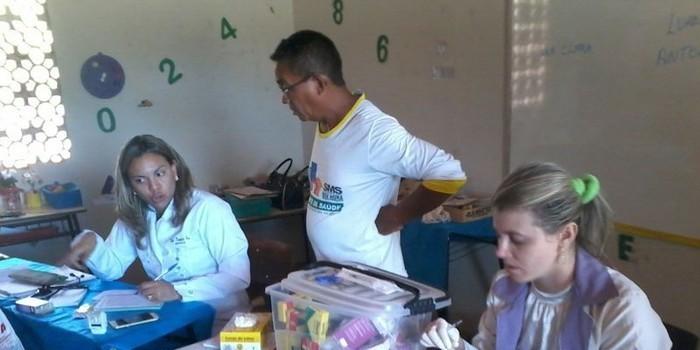 Equipe do PSF do bairro MatoSeco realiza atendimento de hiperdia no povoado Faveira