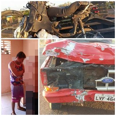 Grave acidente de moto deixa vitima fatal em Arraial do Piauí