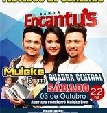 Dia 03 de Outubro Banda Encantu's Fará Mega Show Durante o Encerramento dos Festejos de Juazeiro do Piauí.