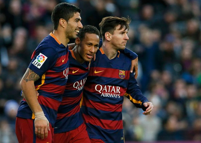 Messi, Neymar e Suárez (Crédito: Reuters)