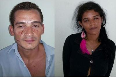 José Reinaldo da Silva e Ingrid Leal, presos em Campo Maior
