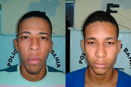 Assaltantes presos após roubo em pizzaria (Crédito: Reprodução)